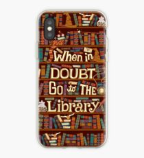 Go to the library iPhone Case