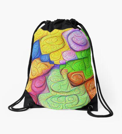 Asymmetry of color foam #DeepDream Drawstring Bag