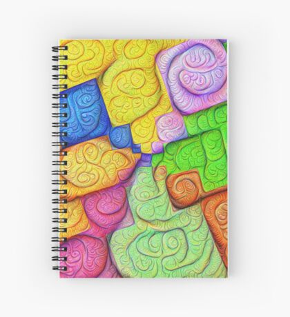 Asymmetry of color foam #DeepDream Spiral Notebook