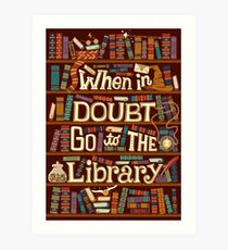 Go to the library Art Print