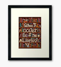 Go to the library Framed Print