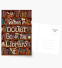 Go to the library Postcards