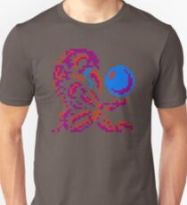 Metroid Chozo - Pink on Black T-Shirt