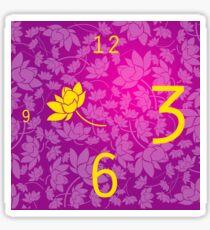 Reloj Fucsia Sticker