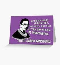 Revolutionary Women: Ruth Bader Ginsburg Greeting Card