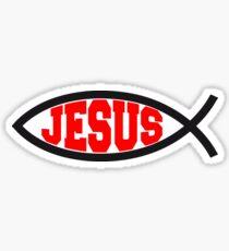 jesus fisch logo symbol design christus glauben  Sticker