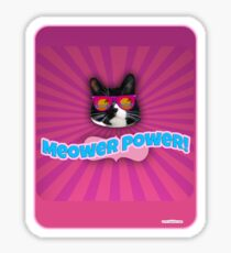 More Meower Power Sticker