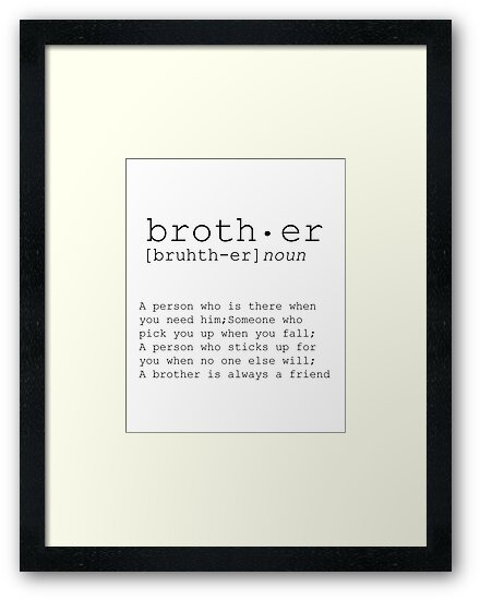 chrismas gift for brother brother big brother art gift ideas brother print brother definition big brother