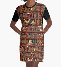 Bookshelf Graphic T-Shirt Dress