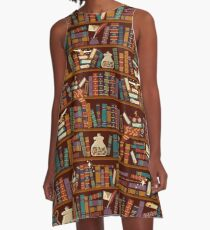 Bookshelf A-Line Dress
