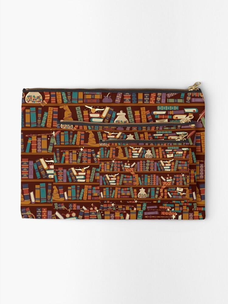 Alternate view of Bookshelf Zipper Pouch