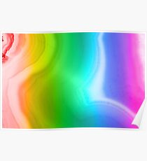 Rainbow colors agate slice mineral Poster
