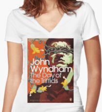 The Day Of The Triffids  Women's Fitted V-Neck T-Shirt