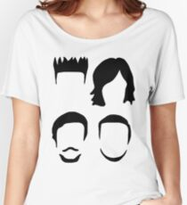 Bastille Hair Design with Dan Will Kyle and Woody Women's Relaxed Fit T-Shirt