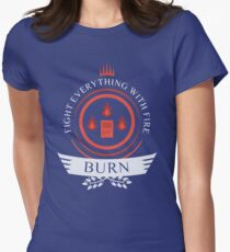 Magic The Gathering - Burn Life Womens Fitted T-Shirt