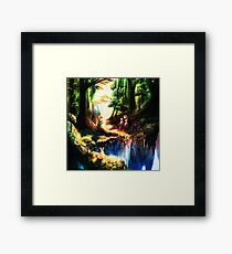 entertaining giver to peace Framed Print