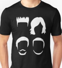 Bastille Hair Design with Dan Will Kyle and Woody in White Unisex T-Shirt