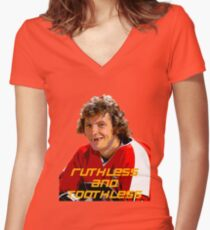 Bobby Clarke Ruthless and Toothless Women's Fitted V-Neck T-Shirt