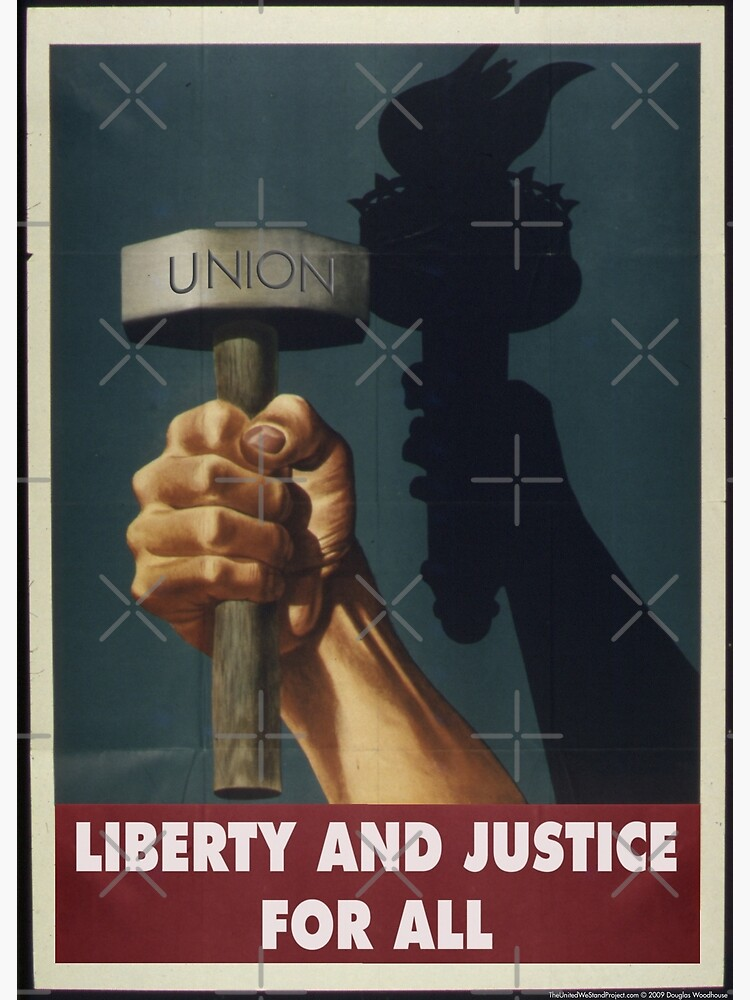 Union Posters: Liberty and Justice by shaggylocks