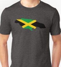 Jamaica Flag Map Unisex T-Shirt