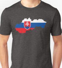 Slovakia Flag Map T-Shirt