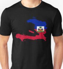 Haiti Flag Map Unisex T-Shirt