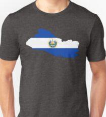 El Salvador Flag Map T-Shirt