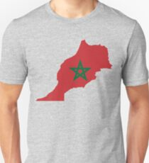 Morocco Flag Map T-Shirt