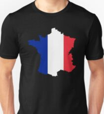 France Flag Map Unisex T-Shirt