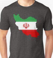 Iran Flag Map Unisex T-Shirt