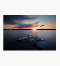 Beautiful Sunset Waterscape - Sweden Photographic Print