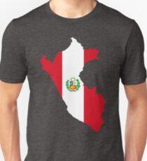Peru Flag Map T-Shirt
