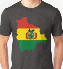 Bolivien-Flaggen-Karte Slim Fit T-Shirt