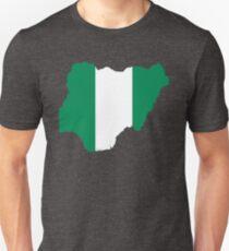 Nigeria Flag Map Unisex T-Shirt