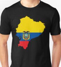Ecuador Flag Map Unisex T-Shirt