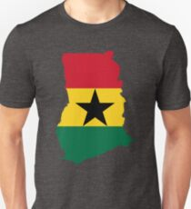 Ghana Flag Map Unisex T-Shirt
