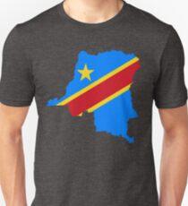 Congo Flag Map Unisex T-Shirt