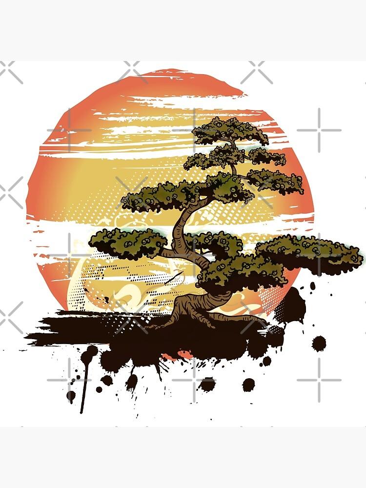 Bonsai Tree Karate Dojo Poster Von Maniacreations Redbubble