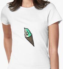 ice cream ok ! Women's Fitted T-Shirt