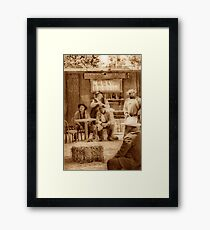 Happy Hour in the Old West Framed Print