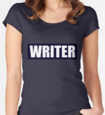 Castle's WRITER bullet proof vest Women's Fitted Scoop T-Shirt