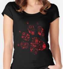 Naughty Dog - 30th Paw Women's Fitted Scoop T-Shirt
