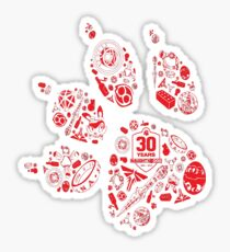 Naughty Dog - 30th Paw Sticker