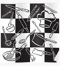 Kitchen Tools Check Poster