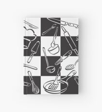 Kitchen Tools Check Hardcover Journal