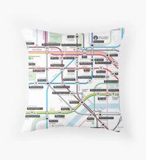 #tagsandthecity / London Throw Pillow