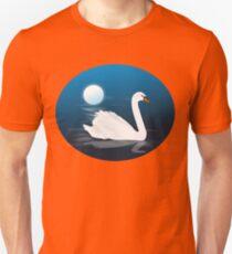 Swan Moonlight Night Illustration Unisex T-Shirt