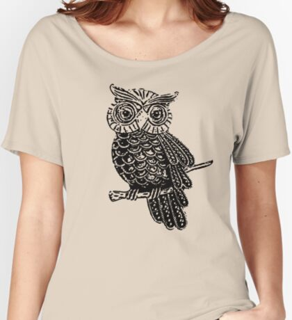 Cute Owl On Tree Women's Relaxed Fit T-Shirt