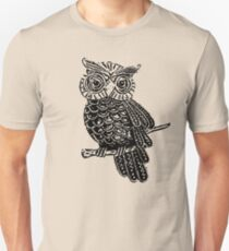 Cute Owl On Tree Unisex T-Shirt