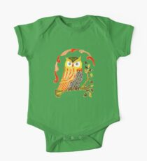Lovely Cute Owl One Piece - Short Sleeve